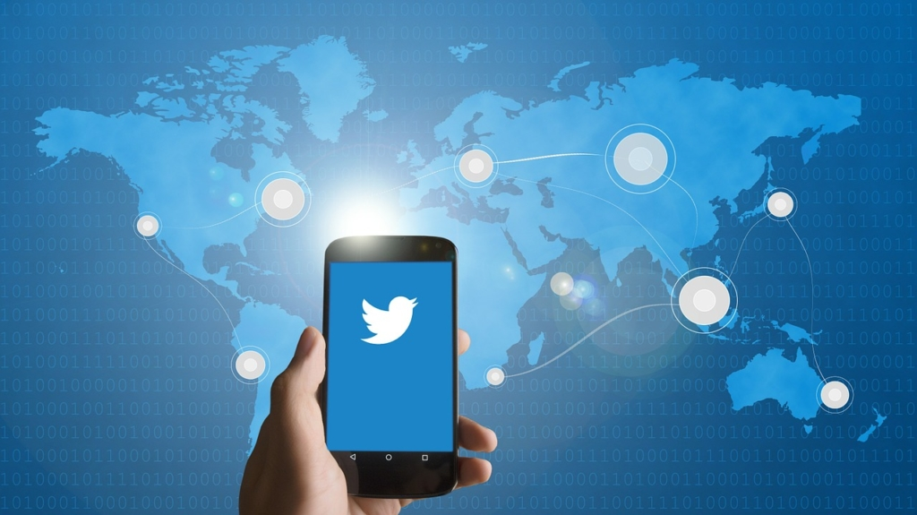 Mobile phone using Twitter application